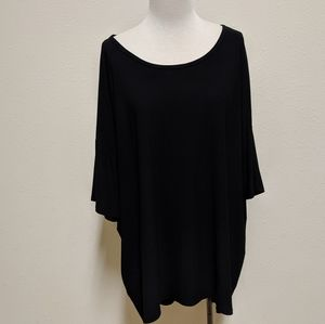 Lularoe black long shirt size 3x